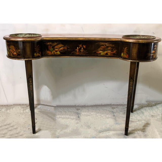 Schmieg & Kotzian Chinoiserie Console Table / Planter - Image 5 of 7