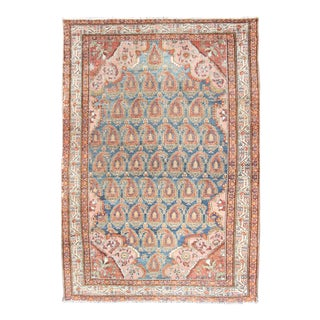 Colorful Antique Persian Hamadan Rug With Large Scale Paisley & Intricate Design For Sale