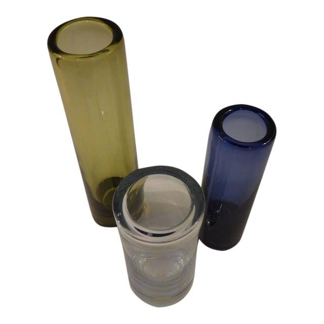 1960s Mid Century Modern Per Lutken Holmegaard Cylinder Vases Set