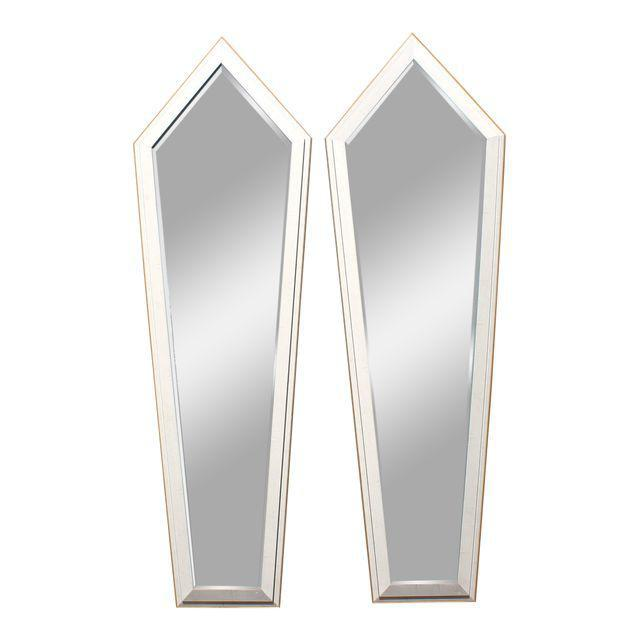 1940s French Art Deco Silver Leaf Mirrors - a Pair For Sale - Image 13 of 13