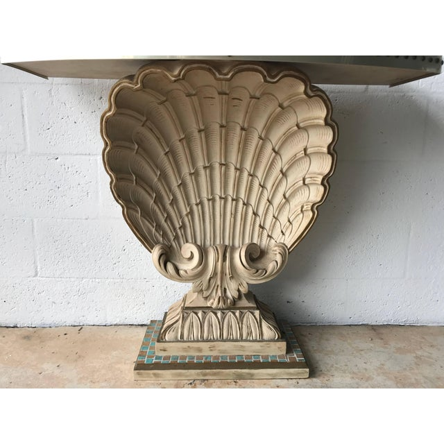 Mid 20th Century Maison Jansen Shell Demi-Lune Console For Sale - Image 5 of 7