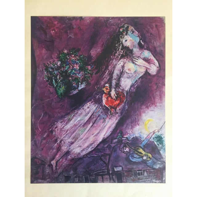 "Marc Chagall Vintage 1947 Rare Limited Edition "" Le Filigrane Violet "" Lithograph Print For Sale - Image 12 of 12"