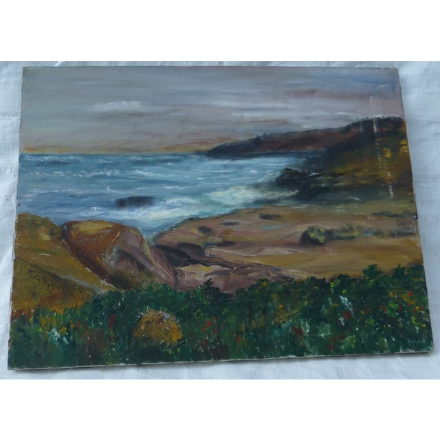 Sweet ocean scene depicted on this oil on canvas, painted by George St. Pierre. Noted artist, this beautiful landscape was...