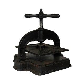 Antique Belgian Book Press