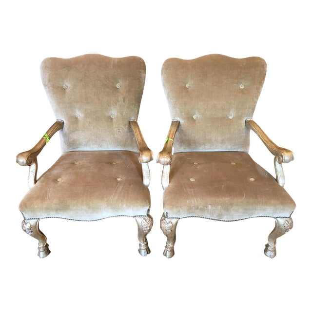 Therien Studios Baroque Arm Chairs- A Pair - Image 1 of 5
