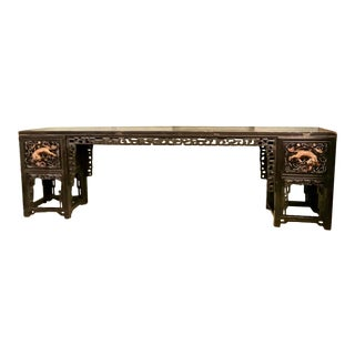 1850s Chinese Carved Altar Table For Sale