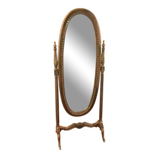 Antique French Reproduction Queen Standing Mirror For Sale