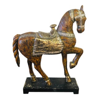 Vintage Horse Sculpture on Base For Sale