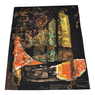 "Mathieu Mategot ""Nocturne"" Handwoven Abstract Wool Tapestry, Circa 1970 For Sale"