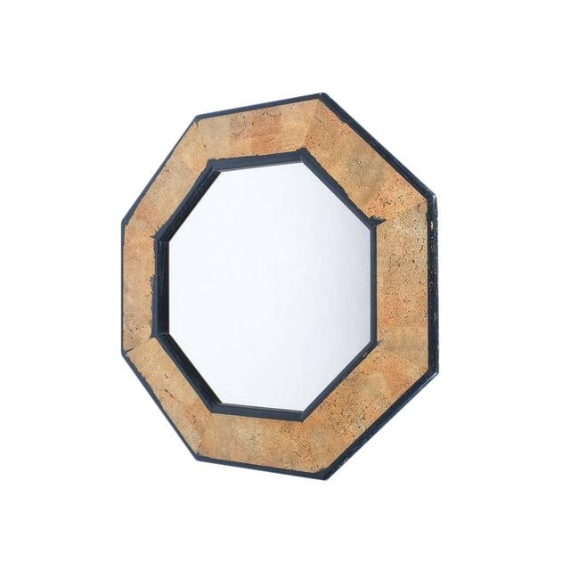 Cork and Wood Mirror by Peter Maly, circa 1970 For Sale