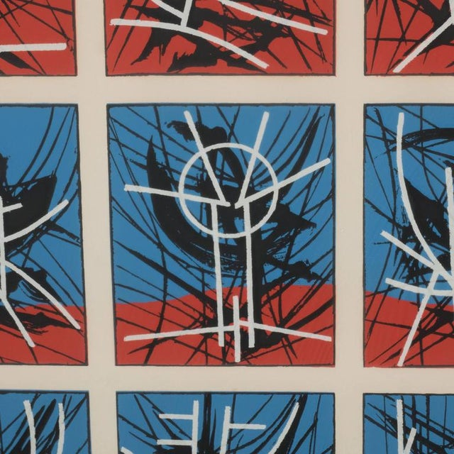 Mid-Century Modernist Screenprint by Jimmy Ernst Untitled For Sale In New York - Image 6 of 11
