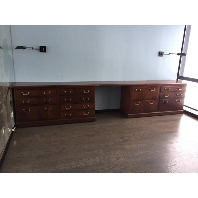 Gold Kimball Chippendale Wood & Brass Credenza For Sale - Image 8 of 8