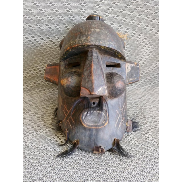 Early 20th Century African Carved Wood Full Head Mask For Sale - Image 4 of 11