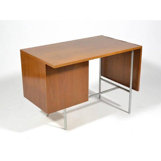 Silver George Nelson Model 4754 Drop Leaf Desk by Herman Miller For Sale - Image 8 of 10