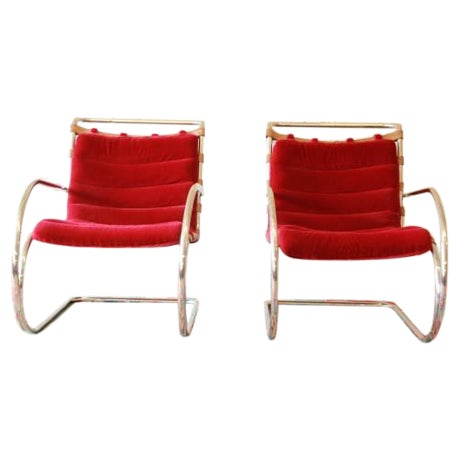 Mies Van der Rohe MR-20 Lounge Chairs - A Pair - Image 1 of 9