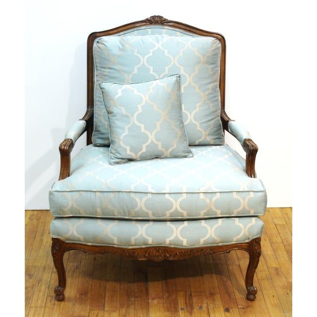 French French Louis XV Provincial Style Bergere Chairs For Sale - Image 3 of 11