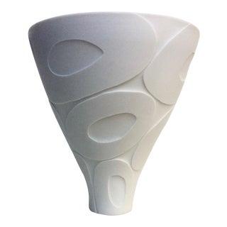 Vintage White Sculptural Vase