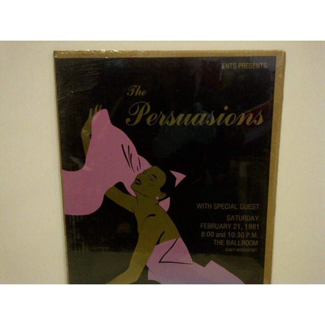 "American 1981 Vintage ""The Persuasions"" Concert Poster For Sale - Image 3 of 4"