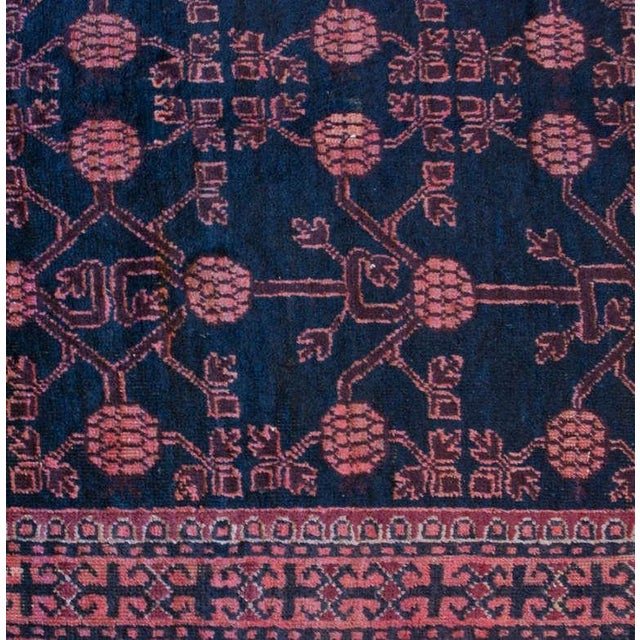 """Asian Early 20th Century Khotan Rug - 4'3"""" x 9'4"""" For Sale - Image 3 of 4"""
