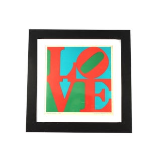 1960s Vintage Robert Indiana Love Lithograph From the Indianapolis Art Museum For Sale