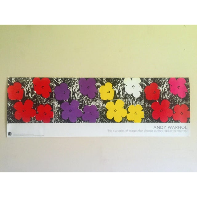 """Andy Warhol Foundation Vintage Pop Art Poster Print """" Flowers """" 1964 / 1967 For Sale - Image 13 of 13"""
