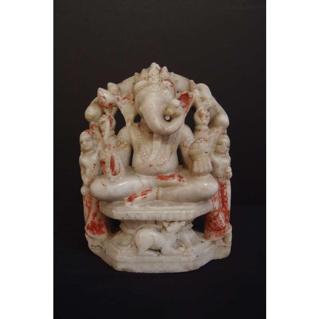White Marble Figure of Ganesh - Image 2 of 8