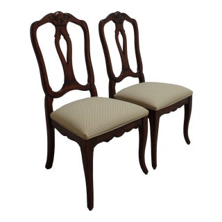 1990s Ethan Allen Country French Legacy Dining Room Side Chairs - a Pair For Sale