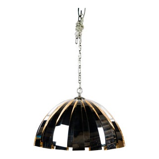 Modern Chrome Dome 3 Light Pendant For Sale