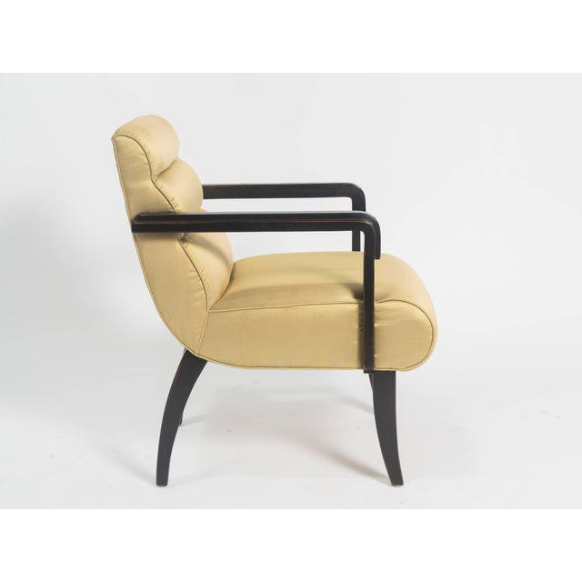 Art Deco Early 21st Century Swaim Deco Style Armchairs- a Pair For Sale - Image 3 of 8