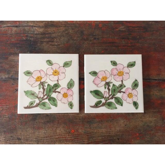 Franciscan Desert Rose Trivets or Tiles - a Pair - Image 2 of 7