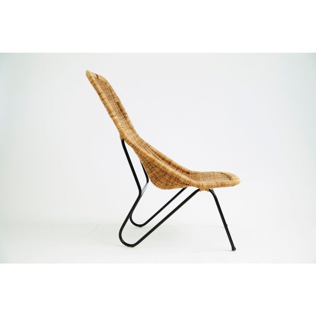 Boho Chic Vintage 1950s Wicker Chair For Sale - Image 3 of 7