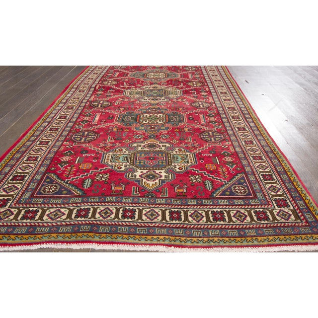 Vintage hand-knotted Persian Tabriz. Very Good condition. Low pile.