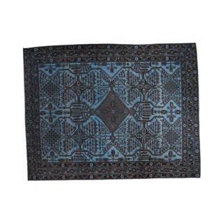 """Blue & Grey Overdyed Carpet - 8'7"""" X 11' For Sale"""