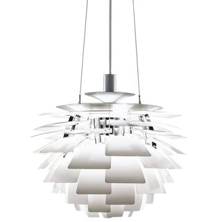 Poul Henningsen White PH Artichoke Chandelier for Louis Poulsen