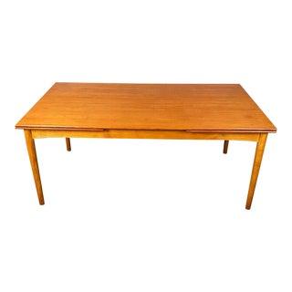 Danish Modern Expanding Dining Table Designed by Børge Mogensen For Sale