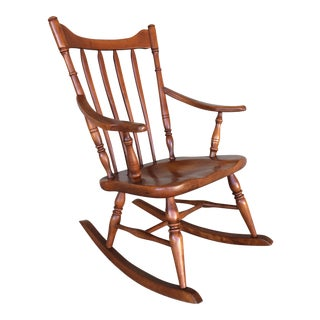 Vintage Cushman Colonial Creations Birch Rocking Chair For Sale