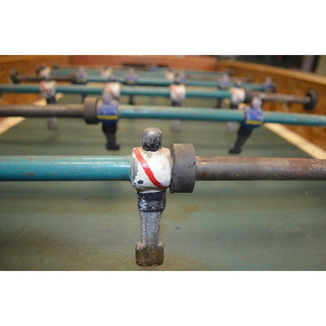 Foosball Game Sports Table From Italy on Handmade Wooden Base; Mid Century For Sale - Image 12 of 13