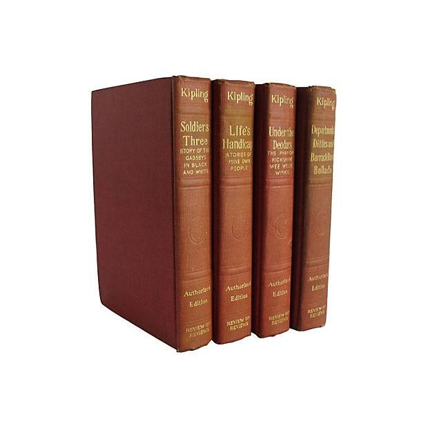 Works of Rudyard Kipling - Set of 4 - Image 1 of 4