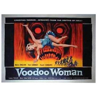"""Voodoo Woman"" Original Movie Poster Circa 1957 For Sale"