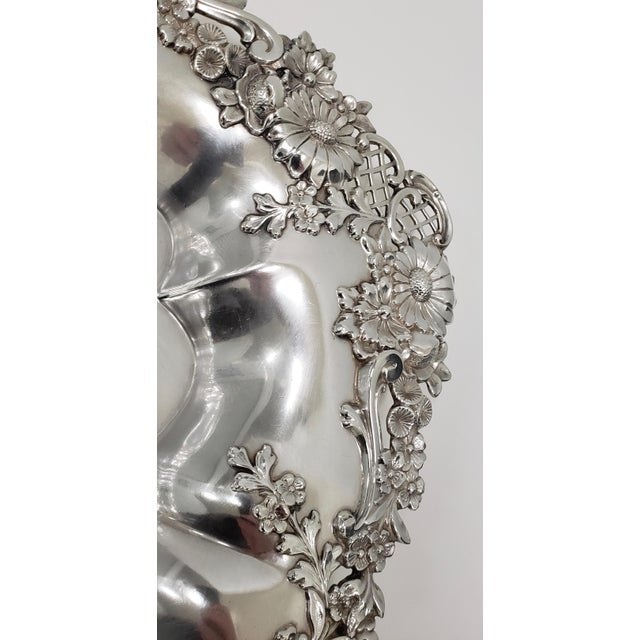"""Theodore B. Starr 14.5"""" Sterling Sandwich Tray C.1880s For Sale - Image 4 of 11"""