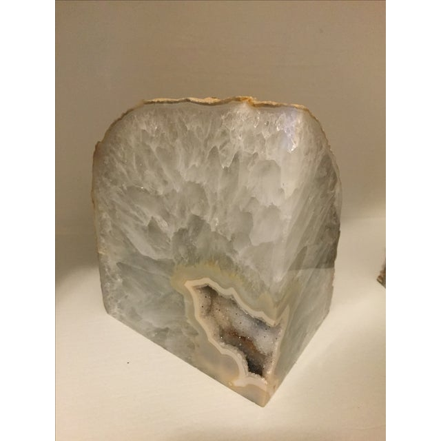 Large Agate Bookends - A Pair - Image 3 of 6