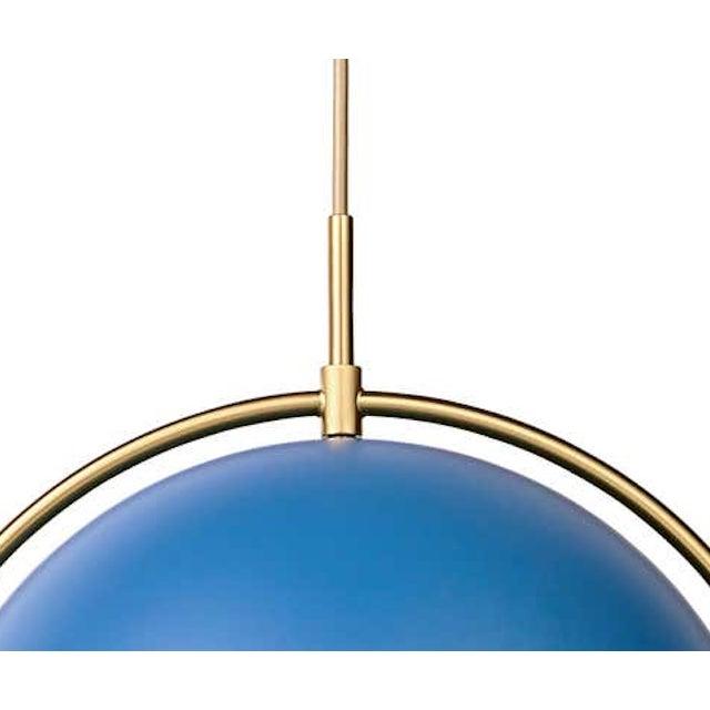 Louis Weisdorf Louis Weisdorf 'Multi-Lite' Pendant Lamp in Blue For Sale - Image 4 of 5