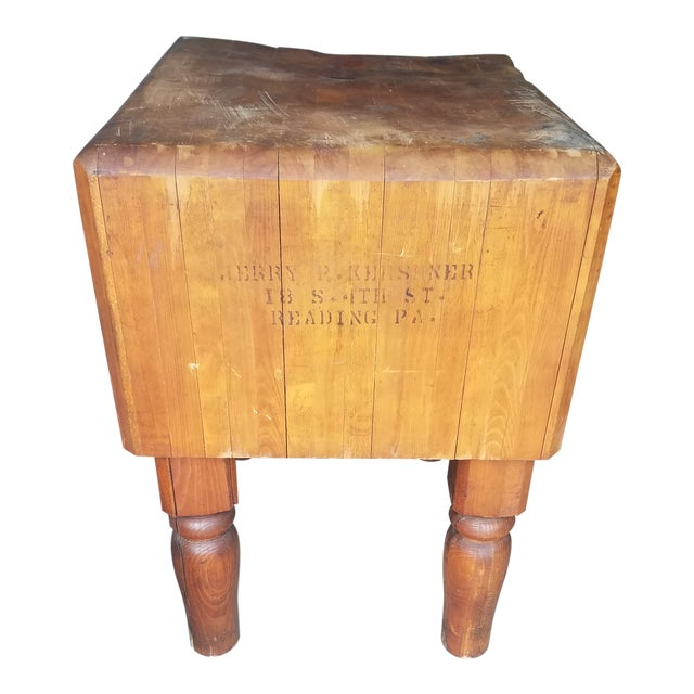 Early 20th Century Antique Butcher Block For Sale