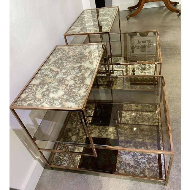 Metal Milo Baughman Style Italian Side or Night Tables - a Pair For Sale - Image 7 of 13