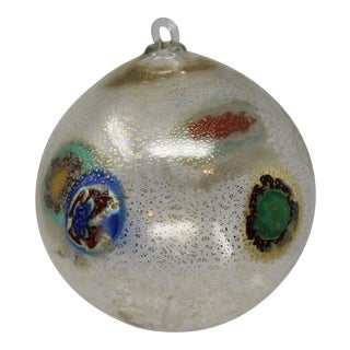 Gold Christmas Ornament From Murano For Sale