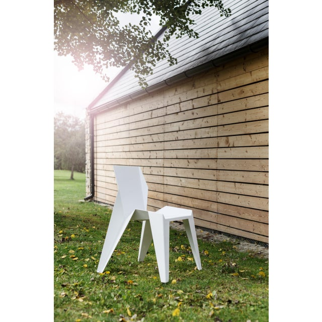 Origami Inspired Edge White Chair | Indoor & Outdoor Chair For Sale In San Francisco - Image 6 of 9