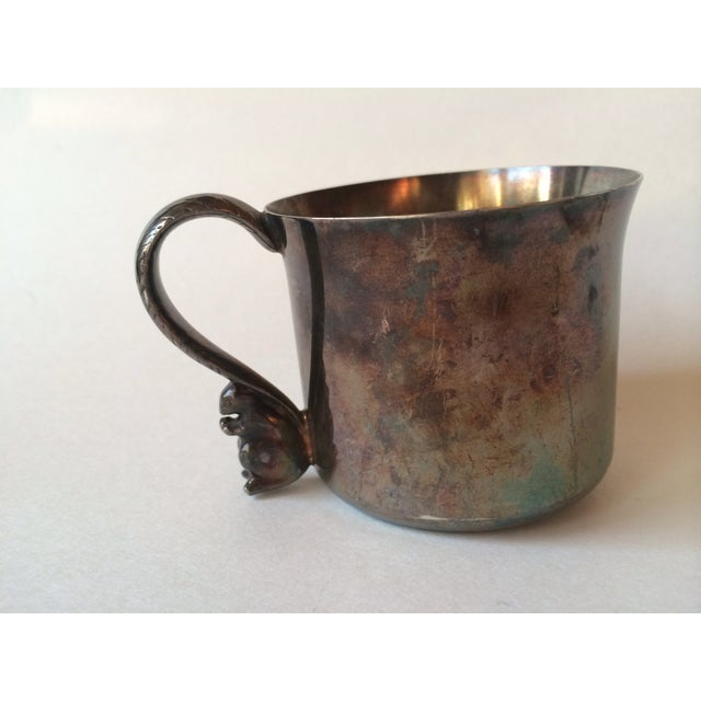 Silver Plated Squirrel Handle Baby Cup - Image 2 of 7