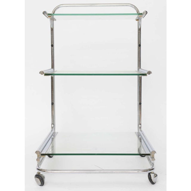 Fontana Arte Chrome Bar Cart - Image 9 of 10