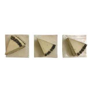 Contemporary Surface Ceramics Cake Tiles - Set of 3 For Sale
