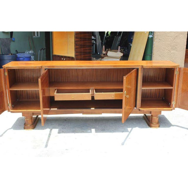Art Nouveau 1940s French Art Deco Jules Leleu Style Rosewood M-O-P Sideboard / Buffet For Sale - Image 3 of 10